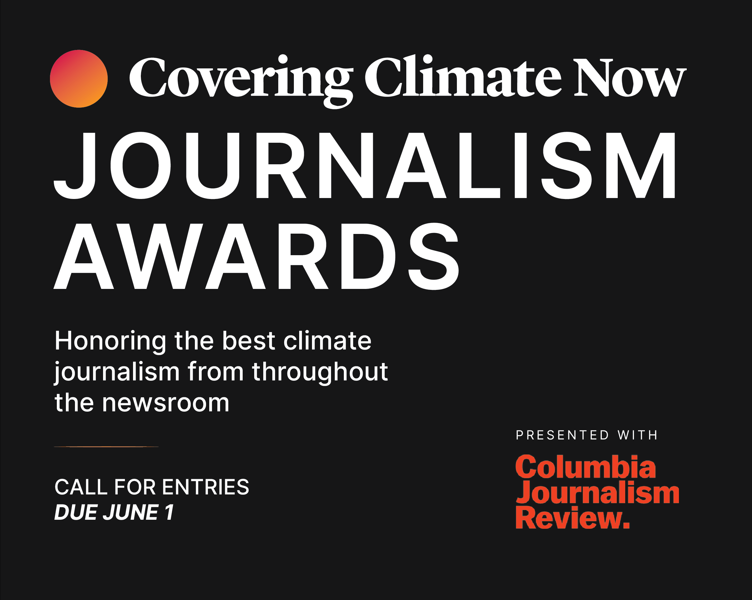 CCNow Journalism Awards Announce